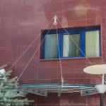 Тенда от INOX и стъкло
